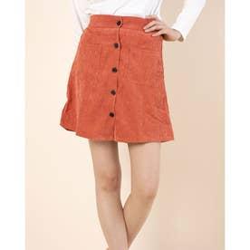 前ボタンスカート (Orange)