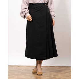 フロントタックラップスカート (Black)