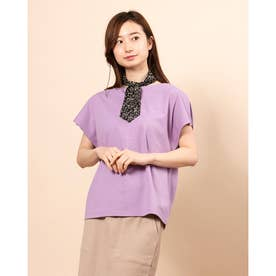 Tシャツ+スカーフセット (Lavender)