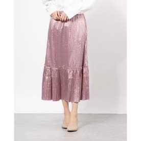 しわプリーツスカート (Lavender)