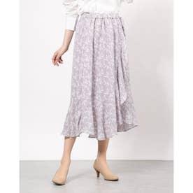 花柄ラップスカート (Lavender)