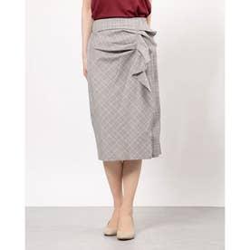 フリルタイトスカート (Gray)