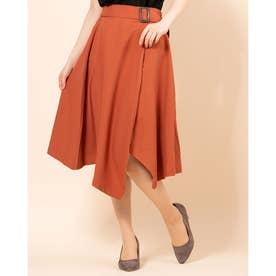 ベルト付アシメスカート (Orange)