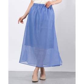 シアーロングスカート (Blue)