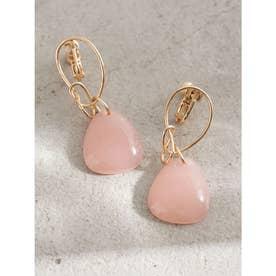 ドロップアクリルイヤリング (Pink)