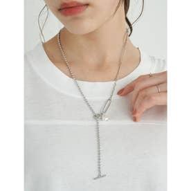 アシメマンテルショートネックレス (Silver)