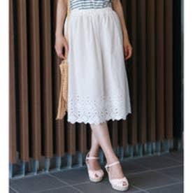 カットワーク刺繍スカート (Off White)