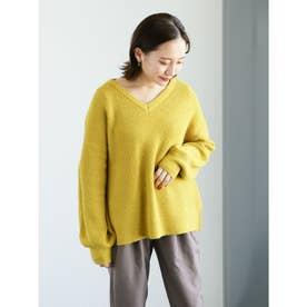 プードルヤーンニットプルオーバー (Yellow)