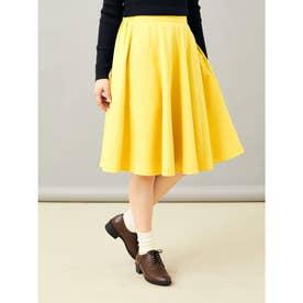 サーキュラーミディスカート (Yellow)