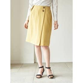 サイドボタンナロースカート (Yellow)