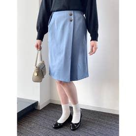 サイドボタンナロースカート (Blue)