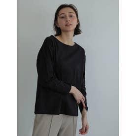 バックアイレット刺繍プルオーバー (Black)
