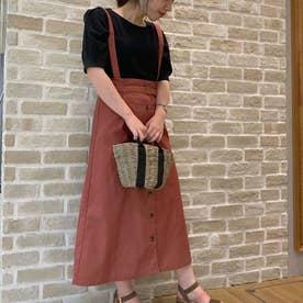 サス付きジャンパースカート (Dark Pink)