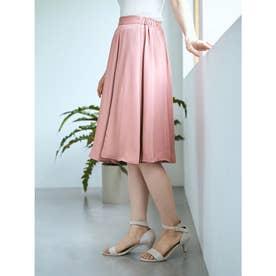 フレアミディスカート (Pink)