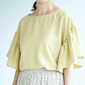 フリルスリーブブラウス (Yellow)