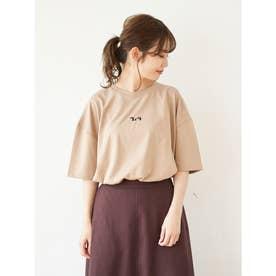 FILA カタカナミニロゴロングTシャツ (Beige)