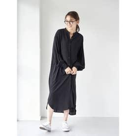 レーヨンイージーケアシャツ(ワンピース) (Black)
