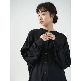 レーヨンイージーケアシャツ(チュニック) (Black)