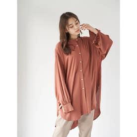 レーヨンイージーケアシャツ(チュニック) (Terracotta)