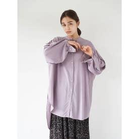 レーヨンイージーケアシャツ(チュニック) (Lavender)