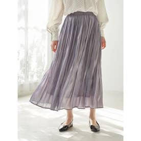 シャイニーサテンスカート (Lavender)
