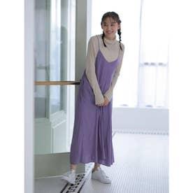 サテンキャミワンピース (Purple)