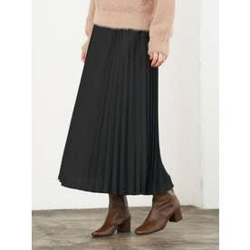 アコーディオンプリーツスカート (Black)