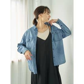 COTTON USAデニムBIGシャツ (Light Indigo)