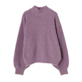 ふわふわシャギーニットプルオーバー (Lavender)