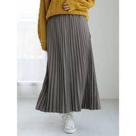 チェックプリーツスカート (Gray)