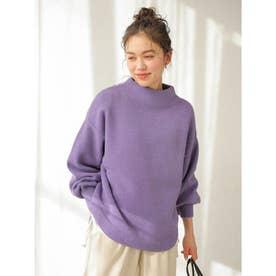 ラウンドヘムニットプルオーバー (Purple)