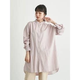 綿/レーヨンシャツチュニック (Light Pink)