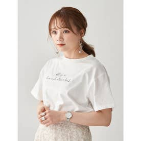 Stay true to yourself BOX Tシャツ (Off White)