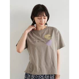 Take time to smell BOX Tシャツ (Gray Beige)