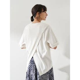 スムースバックスリットTシャツ (Off White)