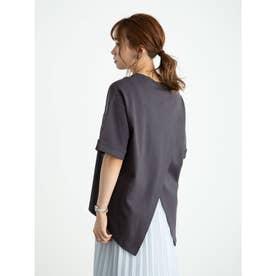スムースバックスリットTシャツ (Charcoal Gray)
