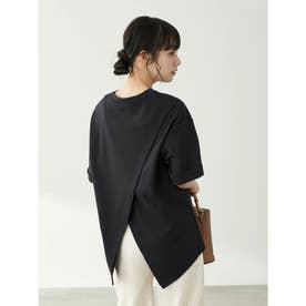 スムースバックスリットTシャツ (Black)