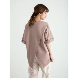 スムースバックスリットTシャツ (Pink)