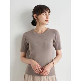 スタイリッシュニットTシャツ (Mocha)
