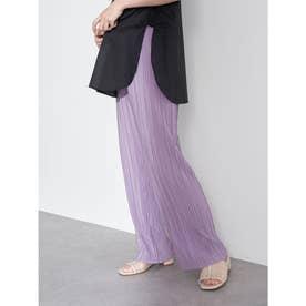 すきな丈プリーツパンツ (Lavender)