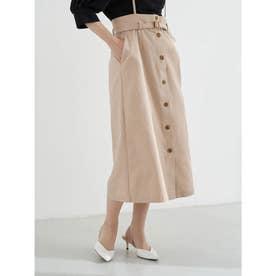 2WAYサス付きナロースカート (Pink Beige)
