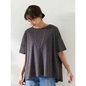 スムースポンチョ風Tシャツ (Charcoal Gray)