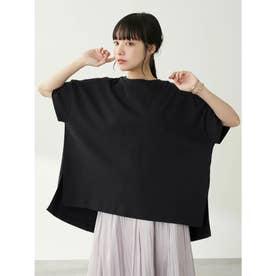 スムースポンチョ風Tシャツ (Black)