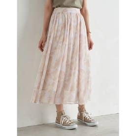 シアーマーブルギャザースカート (Pink)