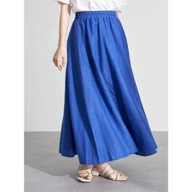ギャザーフレアスカート (Blue)