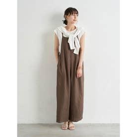 サロペット+Tシャツ SET (Brown)