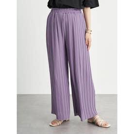 ストレートプリーツパンツ (Lavender)