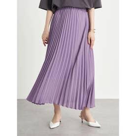 シフォンプリーツスカート (Lavender)