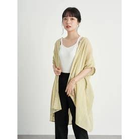 コットン楊柳バンドカラーチュニック (Yellow)