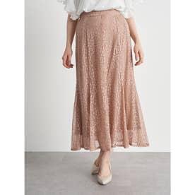 選べるレーススカート(フラワー) (Pink Beige)